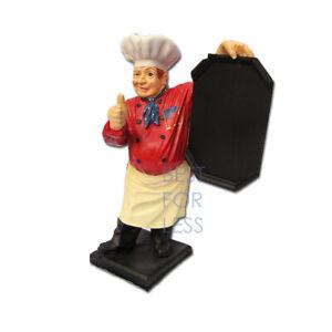 Koch Werbung Werbefigur Figur Gastro Gastronomiefigur Deko Bar Tafel Restaurant