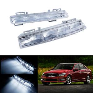 1 Paar Tagfahrlicht LED für Mercedes W204 C207 A207 W212 S212 R172 S204 C204 TFL