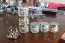 Bath & Body Works PUMPKIN PECAN WAFFLES Mini Candles glass w/lids 1.3 oz NEW x 6