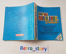 Nintendo Game Boy Color Super Mario Bros Deluxe Notice / Instruction Manual