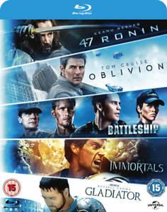 Oblivion / Battleship / Immortals / Gladiator / 47 Ronin Blu Ray Box Set