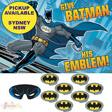 BATMAN PARTY SUPPLIES PIN THE EMBLEM SUPERHERO BIRTHDAY GAME BANNER