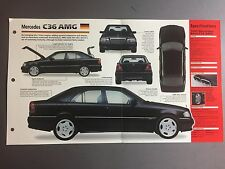 "1994 - 1997 MERCEDES-BENZ C36 AMG IMP ""Hot Cars"" Spec Sheet Folder #2-70"