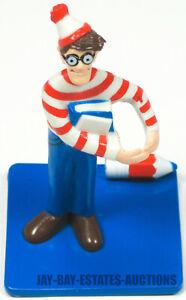 """RARE VINTAGE WHERE'S WALDO FIGURE PVC 1991 CARL'S JR CAKE TOPPER CARL KARCHER 3"""""""