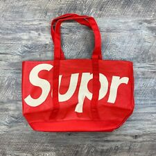 Supreme Raffia Red SS20 Tote Bag
