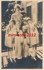 AK, Foto, Familienportrait - Frau mit Ihren 5 Kindern, 1930; 5026-80