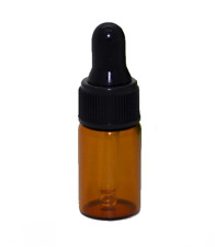 50Pcs Mini 3ML Empty Refillable Amber Glass Essential Oil Bottles Perfume