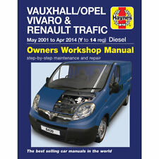 Vauxhall Vivaro Renault Traffic Haynes Manual 2001-14 1.9 2.0 Workshop Manual