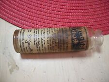 Vintage Antique St. Jacobs Oil Glass Bottle Collectable Americana