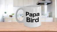 Papa Bird Mug White Coffee Cup Gift for Dad Grandpa Audubon Watching Birding