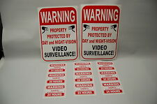 warning VIDEO SURVEILLANCE CCTV security Camera signs window DECAL stickers home