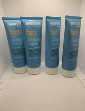 EO Everyone 2-in-1 Face Exfoliator Mask 4oz LOT of  4 New Sealed FREE SHIPPING
