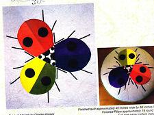 Ladybug Rainbow - beautiful applique quilt PATTERN - Charley Harper design