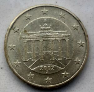 Strike currency 10 cent 2002 f germany, spoiled copies known: 10 rare crenelé