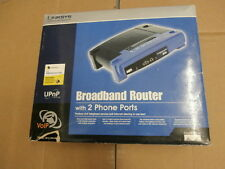 New Linksys Rt31P2 Router with 2 Phone Ports & Charger-Missing Software & Guide