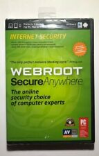 Webroot Internet Security Secure Anywhere Windows 8 Compatible Sealed