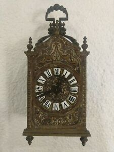 Antique Carriage Bronze Clock. Key,  Working.  French,