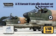 Wolfpack 1:48 A-7E Corsair II Late Type Cockpit Set for Hasegawa -Resin #WP48162