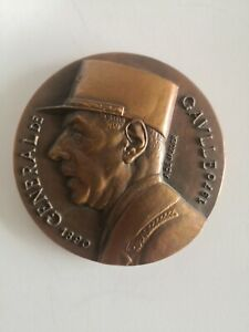 Grande Médaille de bronze general de Gaulle A de Jaeger