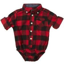Newborn Infant Baby Boy Girl Plaid Romper Bodysuit Clothes Outfits One Piece JJ