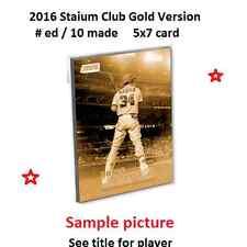 ERASMO RAMIREZ #190 RAYS 2016 Topps Stadium Club 5X7 Gold Version #ed/10 Made