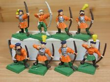 8 CLASSIC METAL WARHAMMER EMPIRE IMPERIAL BOWMEN ARCHERS PART PAINTED (603)