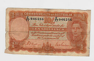 Australia -  Ten (10) Shillings 1938