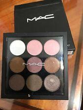 MAC cosmetics burgundy eyshadow compact pallette *9 pan