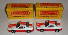"""2 Matchbox """"Pontiac Fiero"""" MB 2 New in Box with Free Shipping"""
