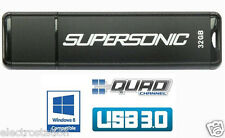 *LOT of 5* PATRIOT 32 GB Supersonic USB 3.0 Flash Drive *Quad-Channel* Tot=160GB