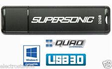 LOT of 17* PATRIOT 32 GB Supersonic USB 3.0 Flash Drive *Quad-Channel* Tot=544GB