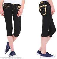 Jeans Capri Donna Pantaloni SEXY WOMAN A389 Tg XS S M L