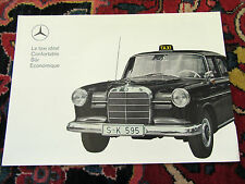 MERCEDES BENZ 190 DIESEL TAXI 1964 brochure 4 pages