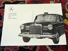 MERCEDES BENZ 190 DIESEL TAXI,  1964 - brochure  d'époque, taxi cab