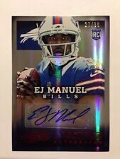 EJ Manuel Auto #27/30 Red Spectrum 2013 Panini Absolute Football Autograph RC
