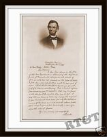 Photograph Civil War Lincoln 1864 Letter to Mrs.Bixby on Loss of Her Sons  11x14