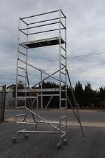 "Aluminium Mobile Tower Scaffold F52, plantform height 4m + 6"" Adjustable wheels"