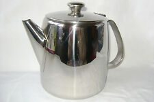 NEW STAINLESS STEEL FLIP LID LARGE TEA POT TEAPOT 1.5 LITRE 48oz BOXED SUNNEX