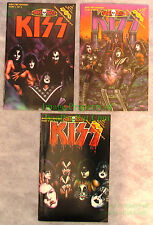Kiss Hard Rock Comics #1-3 Complete Pre-History Set Gene Simmons Paul Stanley