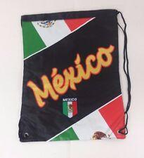 Mexico Cinch Bag Color Black W/ Flag Official Licensed Product  NWOT