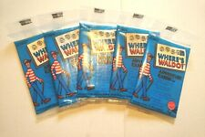 Where's Waldo? (Wally) trading cards - Mattel USA - 5 NEW SEALED PACKS!