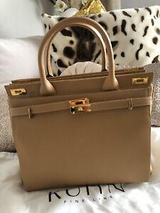 Luxus Kuhn Fine Line Kelly Bag Tasche Handtasche Camel Neu Hoher NP!