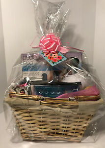 Mother's Day Premium Complete SPA Gift Set Basket Wrapped With Bow