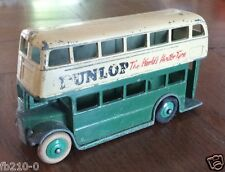 """DINKY TOYS Meccano """"Made in England by"""" BUS DUNLOP"""