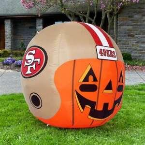 San Francisco 49ers Inflatable Jack-O'-Helmet Halloween Yard Decoration