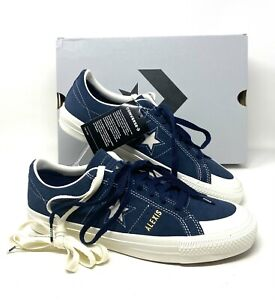 Converse OS PRO AS OX Obsidian Blue Suede Sneakers 167615C
