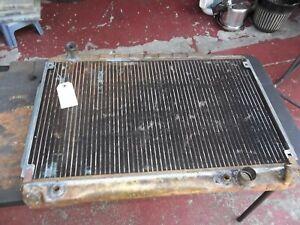 74-80 Mercedes Benz 107 450 SL Behr genuine radiator 1075011201 cleaned & rodded
