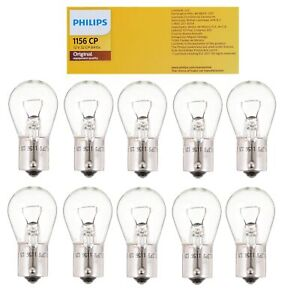 🔥Phillips 1156 10x Mini Bulbs Halogen Clear 12V-27W For BMW E3 Chevy Ford GMC🔥