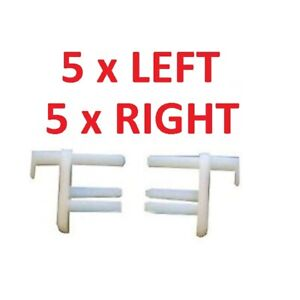 5 x Pairs Seitz Dometic Flyscreen / Caravan Window Blind End Clips 5 L/H & 5 R/H