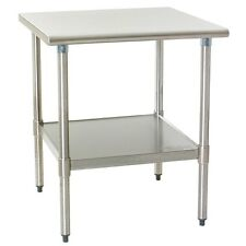 Eagle Group T2430Seb-1X Deluxe Work Table 30in x 24in Stainless Steel Work Top